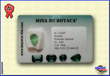 SMERALDO COLOMBIA CERTIFICATO In Blister EMERALD Certfied Taglio PEAR Kt 2,60