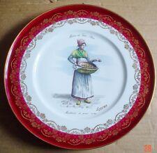 Limoges Collectors Plate MARCHANDE DE POIRES OU-TES