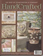 Handcrafted Magazine 2008 Volume 4 Best of Stampington & Company Somerset Studio