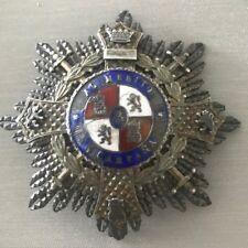 Spain Rare 1900'S Merit In Campaign Great War Cross Breast Decoration Silver !