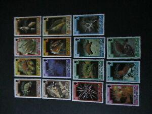 British Virgin Islands BVI 1985 Marine Life OFFICIAL SGO1/O15 MNH UM unmounted