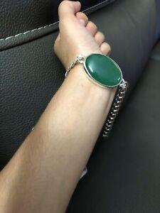 Yemenj Aqeeq Braclet Color Green