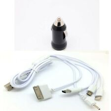 Car Charger & 5 in1 USB Cable For iPhone 4 4s 5 6 7 iPod Nokia Samsung HTC LG ol