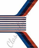 BMW E30 M Technic 1 2 Stripe decal sticker kit M Stripe Mtech1 Mtech2 Motorsport