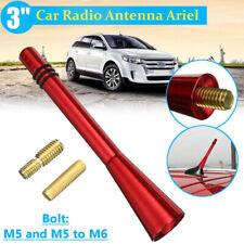 """Universal 3"""" Auto Aluminum Alloy Carbon Fiber FM AM Radio Car Antenna Red"""