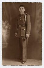 Carte photo studio ROGER . Soldat en uniforme . Militaire . Militaria
