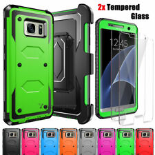 For Samsung Galaxy Note 5 Case Shockproof Phone Cover Holster + Screen Protector
