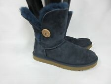 UGG Women's Bailey Button II Ankle Boots Navy  5803 Size: 7