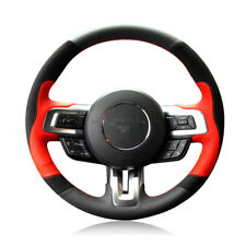 For Ford mustang 15-2017 DIY Hand-stitched Car Steering Wheel Cover Top Leather