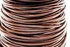 "50m Chocolate Dark Brown 3MM Genuine Round Leather Cord 1/8"" DIY Craft 50 Yards"