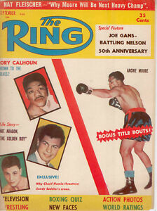 The Ring - Archie Moore on Cover - 1956
