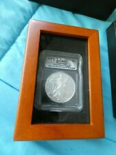 2017 S1 Silver Eagle Coin ICG MS70 FDOI  First Day of Issue COA in box PERFECT!