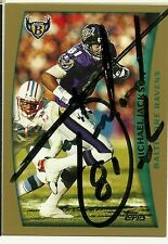 1998 Topps MICHAEL JACKSON Signed Card Lambeau Field BROWNS RAVENS southern miss