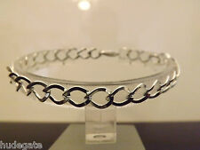 12 Silver Plated Chain Bracelets  For Clip on Charms Wholesale Jewellery Job Lot