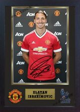new Zlatan Ibrahimovic signed autographed Manchester United FC Framed 0011