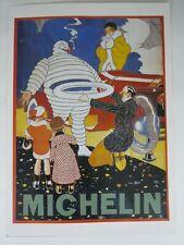 Art print poster Lithograph Michelin Man Tire Company ad classic car automobile