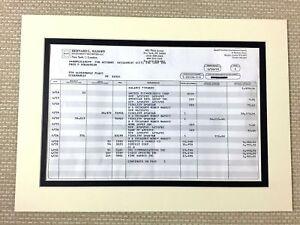 Bernie Madoff Original Investment Portfolio Statement Fraud Ponzi Scheme Crime