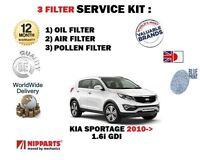 Para Kia Sportage 1.6i GDI 6/2010> Kit de Mantenimiento Aire Aceite Pollen 3