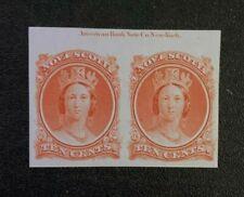 Nova Scotia Stamp #12 Proof Pair MNG