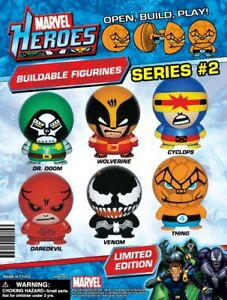 Marvel Heroes Buildable Figurines Series #2 Full Set of 6