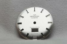 Genuine Universal Geneve Silver Polerouter III Wristwatch Dial NOS - 28.2mm