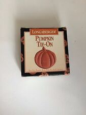 Longaberger Halloween Pumpkin Tie On To Nib