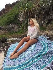 Hippie Indian Elephant Mandala Round Roundie Beach Throw Tapestry Beach Yoga Mat