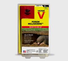 Victor POISON MOLEWORMS Mole Gopher Bait Killer Pest Rodent Worms 10 pk M6009