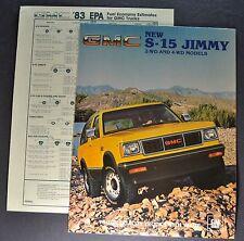 1983 GMC S-15 Jimmy Truck Sales Brochure Folder 4x4 Excellent Original 83