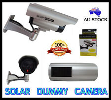 2PCS FAKE DUMMY SOLAR LED OUTDOOR IP CAMERA ALERM SECURITY CAM CCTV WATERPROOF