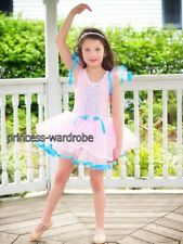Pink Blue Princess Ballet Leotard Tutu Dance Dress 2-7Y