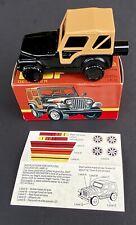 1981 Nos Avon Jeep Renegade Cj-5 Full Decanter Unused in Box Original Stickers