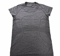 Lululemon Swiftly Tech Short Sleeve Shirt Size 10 Womens Running Top Gray Tee