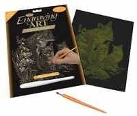 Royal and Langnickel - Engraving Art Set – Fox and Cubs - Gold Foil
