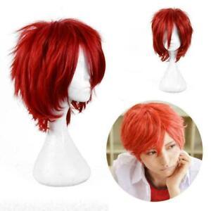 Child Chucky Cosplay Halloween Red Short Hair Full T1Y5 Chirdren's Ga Wigs P3V4