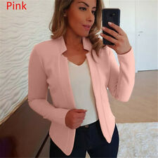 Women Elegant Casual Fit Business Career Blazer Suit Jacket Coat Outwear Tops