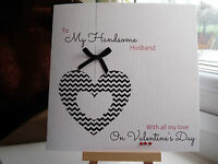 Handmade Personalised Husband Boyfriend Fiance Wife Valentines Anniversary  Card