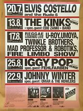 THE KINKS – IGGY POP 1990 HAMBURG  -  orig.Concert-Konzert-Poster-Plakat  A1