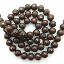 New 4mm 100pcs Brown Glass Pearl Round Spacer Loose Beads Jewelry Making