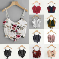 Women Fashion Summer Tanks Tops Vest Blouse Casual Crop Cami Camisole Short Top