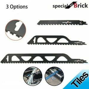Reciprocating -Saw-Blade Cutting Red/Grey Brick And Stone For Saber Saws