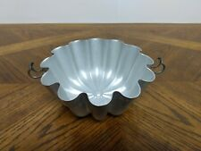 """Vintage 6-1/2"""" Mirro Aluminum Jello Mold with Clamps No Top"""
