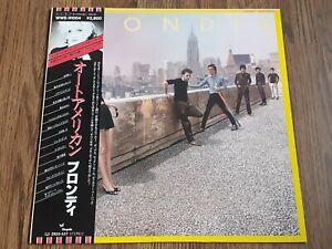 BLONDIE - AUTOAMERICAN LP 1980 OBI INSERT JAPAN CHRYSALIS NEAR MINT