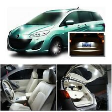 For Mazda 5 2006-2010 Xenon White LED Interior kit + White License Light LED