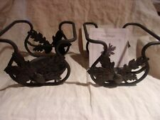 Pair Longaberger Wrought Iron Toboso Candle Holders New in Box