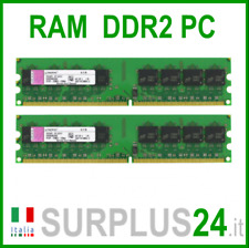 KINGSTON RAM 4Gb (2x2Gb) PC2-6400U DDR2-800Mhz 240pin Memoria x DESKTOP No Ecc
