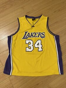 LOS ANGELES LAKERS SHAQ #34 JERSEY SHAQUILLE ONEAL MENS XL