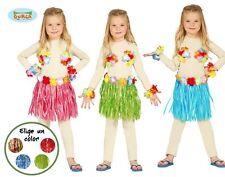 3 teiliges Hawaii Set für Kinder Karneval Fasching Strand Party Hula Rock Blumen