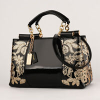 Women Luxury Handbags Female Leather Evening Bag Embroidered Shoulder Bags