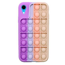 Pop Fidget Toy Soft Tpu Silicone Case Cover For iPhone Xs Max - Pink / Purple